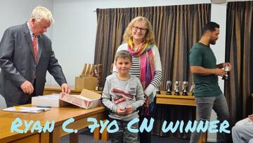 Ryan C 7yo Club night winner